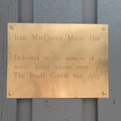 A plaque on Hut #27